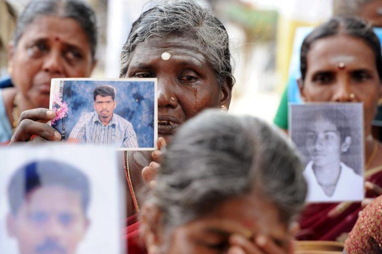 Continuano le proteste dei familiari tamil