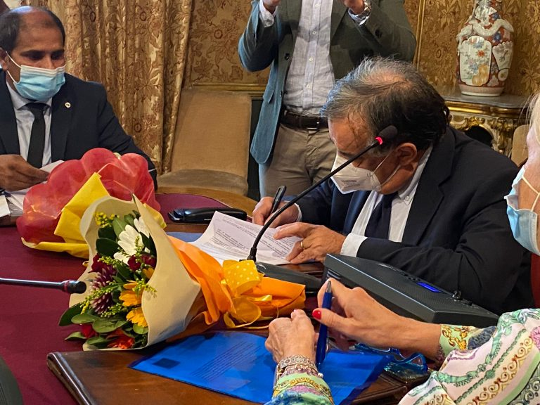 Protocollo sul Genocidio firmato tra la Città di Palermo e la comunitá Eelam Tamil